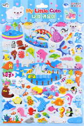 niños les encantan las pegatinas Rebajas 2019 las últimas pegatinas de dibujos animados de palma en los niños 3D pegatinas de burbuja estéreo sol chico niños muy amor regalo