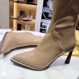 Modelos saltos on-line-Modelos de explosão designer de moda de alta elasticidade sapatos de salto alto qualidade de luxo personalizado botas de moda 35-40