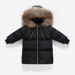 casacos longos de inverno da linha da princesa Desconto Christmas Baby roupas de qualidade Casacos 2-8 anos Crianças de Inverno Down Jacket Brasão Boy Fashion Girls'Warm de Down Crianças de algodão
