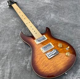véritable électrique Promotion En stock Human Vintage Tremolo, guitare électrique, table en érable piqué, touche Maple Guitarra, affichage de photos réelles, livraison gratuite.