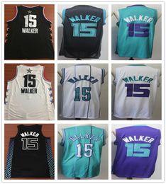 2cb2ed8e80b Chinese Stitched Kemba Walker Jersey 2019 New Style Black White Green  Purple Cheap Men Basketball Kemba