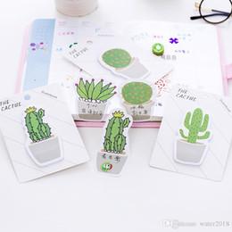 Cuscinetti per biglietti da visita online-Carino Cactus Memo Pad Nota adesiva Adesivo Memo Libro Nota Carta N Adesivi Articoli di cancelleria Accessori per ufficio 672