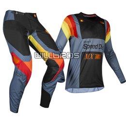 Maglia blu motocross online-2019 pantaloni MX 360 Murc Blue Steel Jersey adulti Motocross Dirtbike Moto Off Road corsa ingranaggi