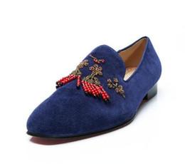Мужчины скольжения на мокасины бисероплетение строка обувь горный хрусталь выпускного вечера свадьбы обувь платье обувь для мужчин cheap shoes strings от Поставщики шнуры для обуви