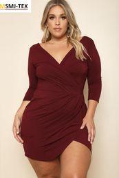 b7cd8ceff6 bodycon peplum dress plus size Canada - Plus size fashion lady dress V-neck  cherrykeke