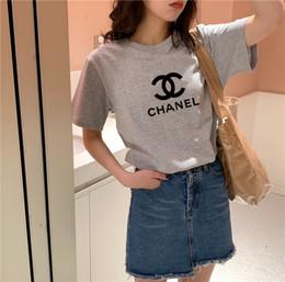 2019 mergulho profundo camiseta senhoras 2020luxury alta qualidade T-shirt impressão Mulheres de manga curta encabeça tricô camisola femme A7Chanel