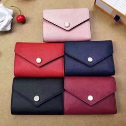 2019 atacado clássico designer de carteira de couro multicolor bolsa da moeda saco feminino curto dobrar cartão senhoras carteira clássico mini-bolso com zíper de