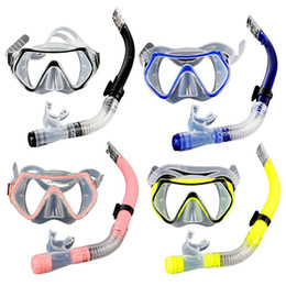 2019 trockene schnorchel-sets Schwimmbrille Tauchmaske Dry Snorkel Set PVC Schnorcheln Gelb, Pink, Blau, Schwarz Gear Kit PC rabatt trockene schnorchel-sets
