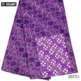 африканская кружевная фиолетовая органза Скидка 2019 последних блесток фиолетовой африканской органзы кружева ткань высокого качества кружево ткань нигерийского французский кружево вечер wemen платье