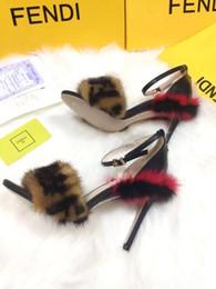 High heeled sandals fabric: cowhide imported mink lining: sheepskin buckle: original hardware mold