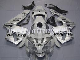 Repsol argento bianco online-4Gifts Kit di carenature per motociclette in ABS gratuito su misura per HONDA CBR600 2005 2006 CBR600RR F5 CBR 05 Repsol bianco e argento