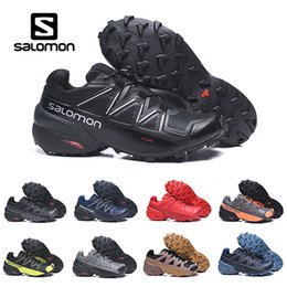 Zapatos impermeables para correr online-Trple Black Salomon Speed cross 5 V CS Zapatillas de running para hombre Zapatillas de deporte transpirables para hombres Zapatillas de deporte deportivas a prueba de agua para correr Zapatillas de deporte al aire libre