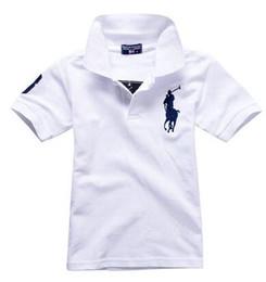 021 Модные детские футболки поло Дети с отворотом футболки с короткими рукавами Верх для мальчиков Бренды Однотонные Тройники для девочек Классические хлопковые футболки от Поставщики детские верхние костюмы