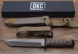 Envío gratis equipo de camping militar EE. UU. Cuchillo del ejército acampar al aire libre multifunción cuchillo de caza sable de alta calidad desde fabricantes