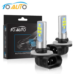881 levou lâmpada on-line-2 pcs H27 LED 880 881 Lâmpada H27W LED Bulbos P13W PSX26W 1400LM Carro Fog Light Super Bright Auto Lâmpada LS3535 Chips 12V 24V 6000K