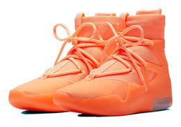 schwarzes leichtes zuckerguss Rabatt 2019 Fear Of God Frosted Fichte Orange Pulse Light Bone Schwarz Designer Schuhe Fashion Nebel Stiefel Kissen Freizeitschuhe Größe 7-12 No Box