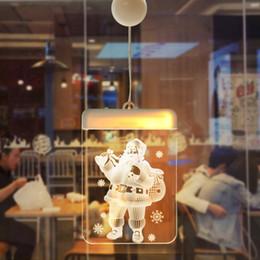 weihnachten fenster dekorationen Rabatt LED Weihnachten 3D Nachtlicht Warmweiß Farbe Touch Control DIY Weihnachtsfenster Dekorationen Nachtlichter Neues Design