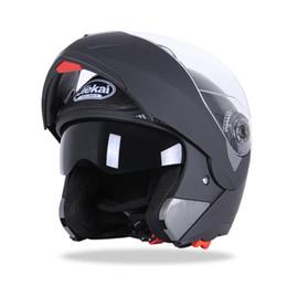 Мото-шлем переворачивается онлайн-JIEKAI 105 мотоциклетные шлемы Flip Up шлем гоночный двойной линзы анфас Moto каско размер M-2XL