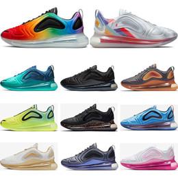 2019 botas r2 Nike air max 720 Nueva llegada 720 zapatillas de running para hombre mujer Plata Metálica triple negro CARBON GRIS PUESTA DEL SOL Zapatillas deportivas transpirables talla 36-45