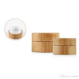 Canada Pot cosmétique en bois du bambou 30G / 50G, récipient vide de crème pour le visage, boîte rechargeable de crème à la main de bambou à haute teneur en DIY Offre