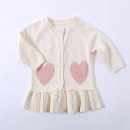 Niñas cardigans de primavera online-1475 Primavera y otoño Amante Camisa abierta de manga larga Abrigo de algodón puro Little Lady Outwear 2019 Baby Girls Knited Cardigan