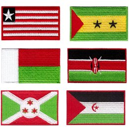 großhandelslandfahnen Rabatt wholesale nation Africa countries flag patch badge iron on t-shirt sew on Guaranteed 10pcs lot The sports meeting gift