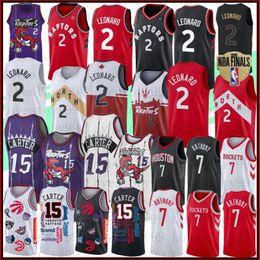 Beste trikots online-NCAA Kawhi 2 Leonard NCAA Trikots Vince Carter 15 VanVleet Carmelo Anthony 7 Hakeem 34 Olajuwon Bester Verkauf Jersey