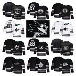 caballero estrella Rebajas 2019 All Star Game camisetas de hockey San Jose Sharks Chicago Blackhawks los jerseys del hockey Edmonton Oilers Vegas Golden Knights Toronto Maple Leafs
