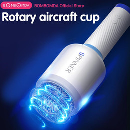 männlicher kolben Rabatt New Rotation Piston Thrusting männliche Masturbation Cup Penis Trainer Vibrator Blasen Saugen Artificial Vaginal Sex Machine