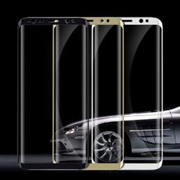 samsung s6 curve Rebajas Cristal templado 3D para Samsung Galaxy S9 S8 Plus Protector de pantalla de cristal curvo para Samsung S9 S8 Plus S7 S6 Edge SSC006