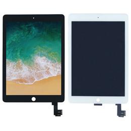 Ipad lcd display de ar on-line-3pcs New original para iPad Air 2 Para iPad 6 A1567 A1566 LCD Screen Display Toque Assembléia digitador Branco Preto + adesiva