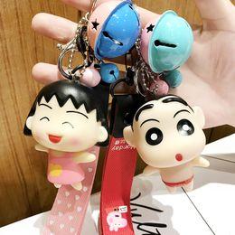 actions de voiture Promotion 1 pc Kawaii japonais Anime Crayon Shinchan Porte-clés pour Femmes Sac Charmes de voiture porte-clés porte-clés pendentif figurines jouets cadeau