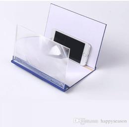 Pantalla de teléfono móvil 3D de 8 pulgadas Lupa Amplificador de pantalla de video Expansor Soporte para teléfono móvil Soporte de montaje Protector de ojos de alta definición desde fabricantes