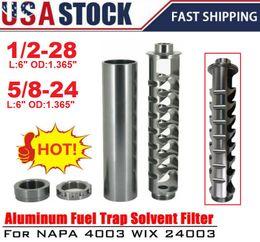 Utilizzare le auto online-USA Stock Spiral 1 / 2-28 o 5 / 8-24 Single Core filtro del carburante per NaPa 4003 WIX 24003 Car solvente PQY-AFF03 / 04