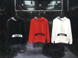 Projetos de hoodie vermelho on-line-19fw New design luxuoso marca DG brancos hoodies camisola preta vermelhos Homens Mulheres moda casual camisas de Streetwear Moletons Outdoor