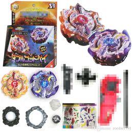 giocattoli di luna Sconti Sole e luna Double God 4D Beyblade BURST Metallo Fusion Dio Spinning Top Bey Blades Giocattoli Beyblade B00 846C-2