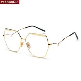 1ff11db17e4 Peekaboo oversized eyeglasses frame optical women 2019 anti radiation  computer glasses frame for men vintage unisex
