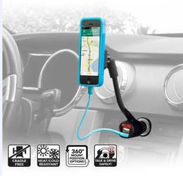 Carregador de montagem de carro de smartphone on-line-Suporte do telefone do carro universal 12 v dual usb isqueiro suporte de montagem carregador berços para celular smartphone