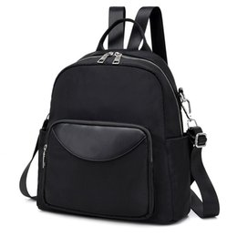 2019 mochilas moradas azules Bolso para mujer negro azul púrpura gran capacidad damas adolescentes mochilas escolares feminina sac a dos mochila X049 mochilas moradas azules baratos