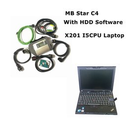 programador de toyota kilometraje Rebajas V2019.03 MB Star C4 Software HDD / SSD con mb star c4 sd connect compacta herramienta de diagnóstico 4 con X201 Laptop I5cpu Listo para trabajar