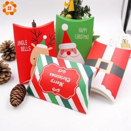 doces dos cervos Desconto 10set cervos Papai Noel doces do Feliz Natal Caixas de presente condicionada Caixas de embalagem do presente da festa de Natal do saco favores Decor caçoa o presente