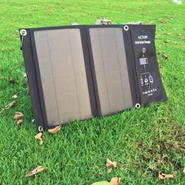 carregador solar banco laptop Desconto 15W dobrar carregamento solar pacote carregador 5V dupla USB para carregar compuers telefones tablet celulares e outros produtos eletrônicos