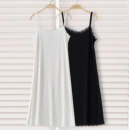 Dentelle pleine slip en Ligne-Slips longs en dentelle noir et blanc avec des slips en dentelle de modal