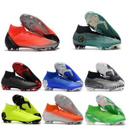 2019 botas cristianas ronaldo naranja 2019 Nuevo para hombre botines de fútbol para tobillo CR7 Mercurial Superfly VI 360 Elite FG Zapatos de fútbol Neymar ACC Superfly Soccer Cleats