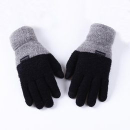 2019 мужские перчатки с сенсорным экраном Mens Large Size Magic Touch Screen Cashmere Gloves For Mens Stretch Knit Gloves High Quality Mittens Winter Warm Wool Guantes дешево мужские перчатки с сенсорным экраном