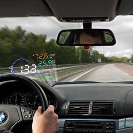 Dragonpad A8 Universel 5.5 Pouce Voiture HUD Head Up Affichage OBDII Avertissement de Vitesse Consommation de Carburant Automobile Système D'alarme de Voiture ? partir de fabricateur