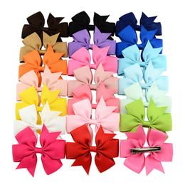 cabelo desenhos para crianças menina Desconto 100 pcs Kid Meninas Projeto Bonito Rabo de Cabelo de Arcos de Cabelo Pin para Crianças Presilhas de Cabelo Do Bebê Acessórios 3 polegadas