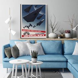 2019 tela di pittura per ufficio moderno Star Canvas Pittura Stampa Wars Camera da letto Home Decor Moderna Arte della parete Pittura ad olio Poster Pictures Office tela di pittura per ufficio moderno economici