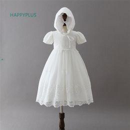 94ec15ca9c98c Happyplus Bébé Fille Dentelle Robe De Baptême Enfant Maxi Infant Bébé Robe  Baptême 3 6 12 18 24 Mois Tenues De Mariage Formel Y190516
