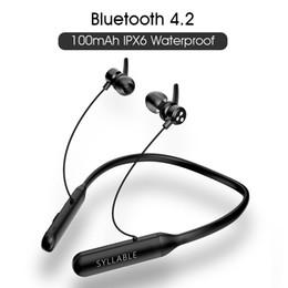 Игры андроид mp4 онлайн-Наушники Наушники слог Q3 наушники беспроводной V4.2 стерео объемный звук для игр / музыки Bluetooth-гарнитура для Android IOS Ea...
